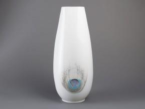 Váza čtyřboká Páv