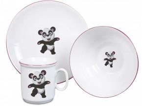 Dětská souprava Panda (červený okraj)