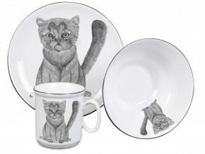 Dětská porcelánová souprava Kočička