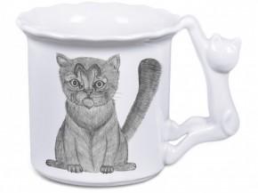 Hrnek ucho kočka (kreslená kočička)